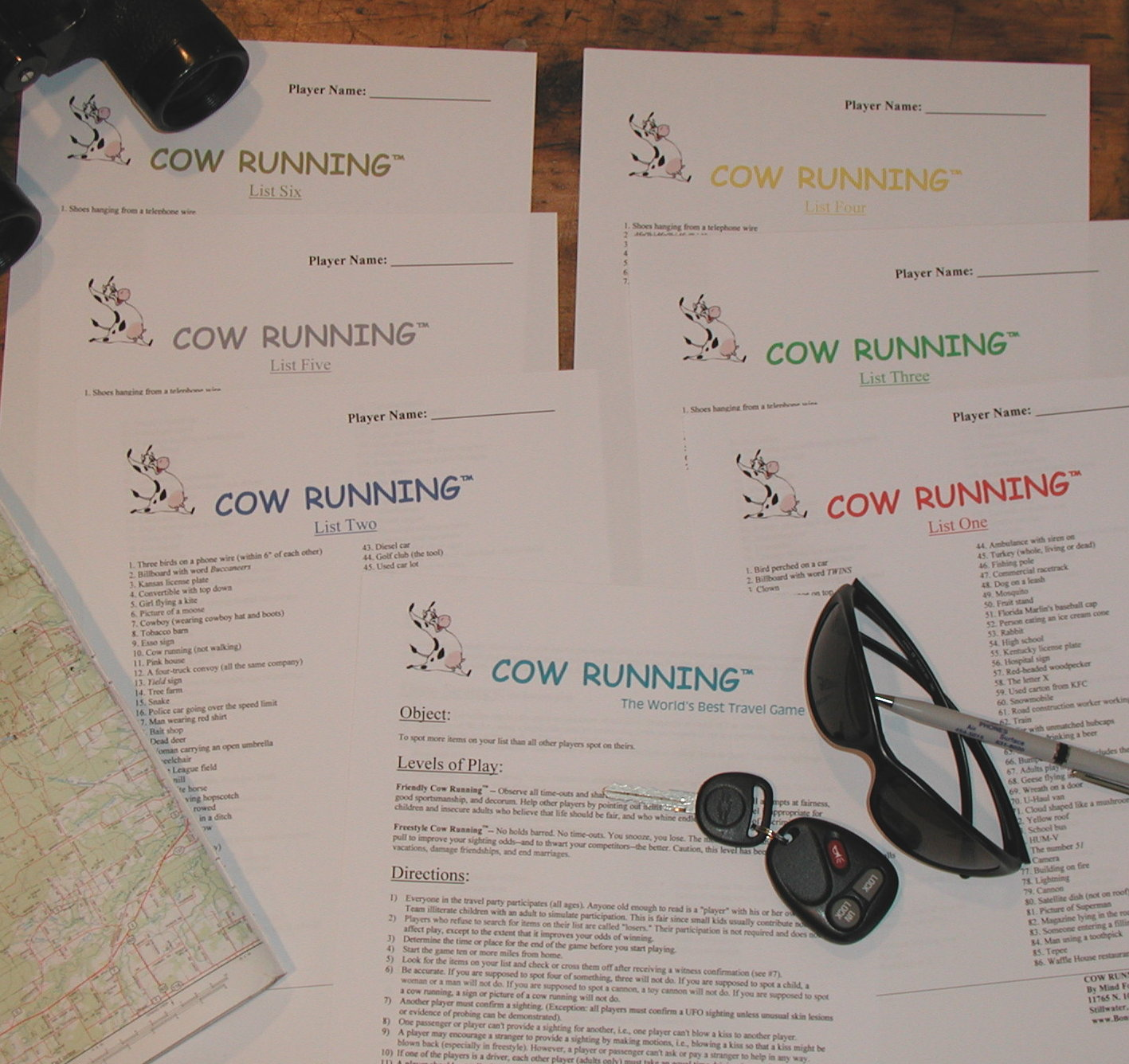 Cow Running -- the world's most popular travel game by C.B. Jonnes.